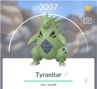 Tyranitar 3000+ CP | Easy Trade on iOS and Android!!!