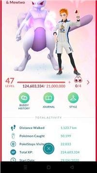 Level 50 Level 47 Pokemon Go Account (99 100IVS, 450+ Shinies Including 32 Legendary Shinies, 100 Legendary) visit offer for more