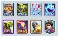 Account clash royale [Supercell ID] Level 12  - all card - 5150 Trophy - 30,399 Gold - 229 Gems   14 cards max level   INSTANT DELIVERY