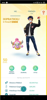 Level 50 pokemon go account for Sale 236 M XP 2M+stardust 500+shiny shundo mewtwo instinct cheapest deal possible