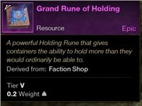 Grand Rune of Holding