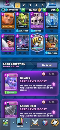 DISCOUNT// CHEAP LEVEL 12 ACCOUNT // 5 CARDS MAXED // HAVE ROYAL PASS THIS SEASON // 3 SKIN TOWER // 1 LEGENDARY CARD MAXED // 3 BOOK
